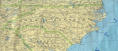 map of carolina cities carolina base map