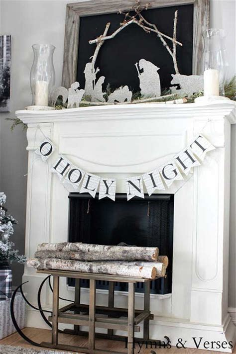 best christmas mantel decor diy ready