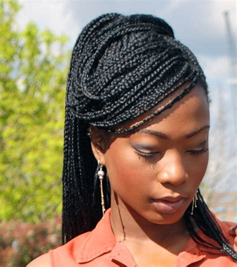 images of black braided bunstyle with bangs in back hairstyle box braids hairstyles girlterest