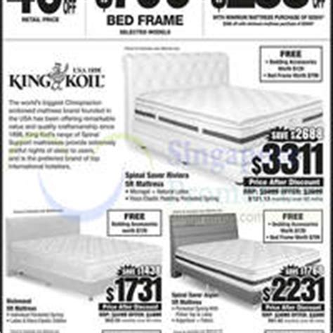 king koil bamboo comfort classic courts massive clearance upsized 3 day offers 25 27 oct 2014