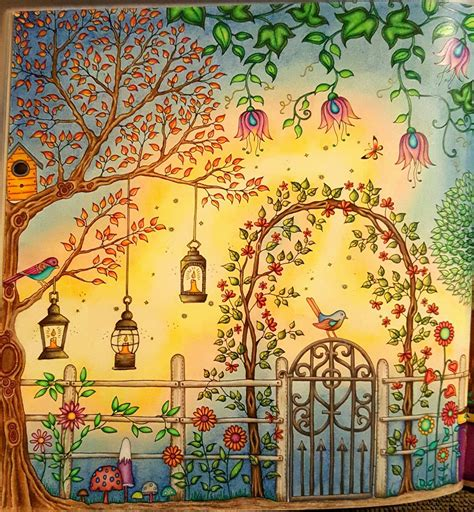 secret garden coloring book close    side