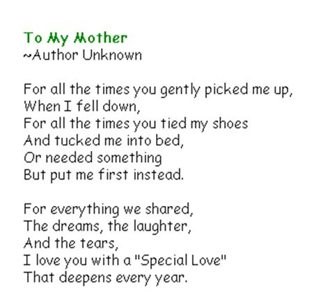 spanish mothers day poems floritthermo cute mothers day poems