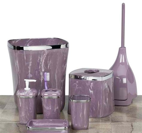 mauve bathroom accessories elegant sophisticated purple bathroom accessories