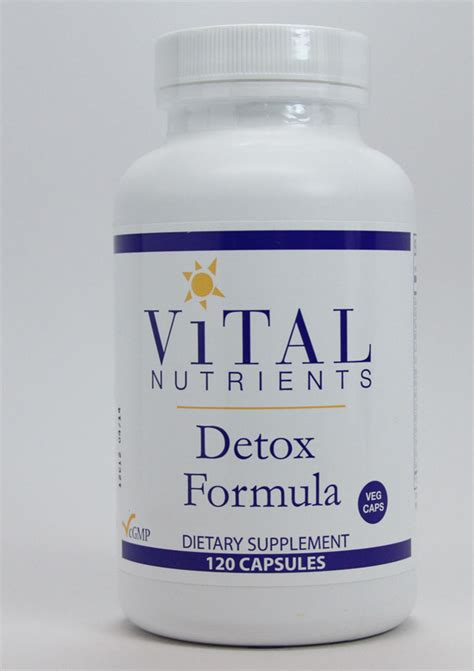 Detox In Maryland by Detox Formula 120 Caps Vital Nutrients Dr Adrian Md
