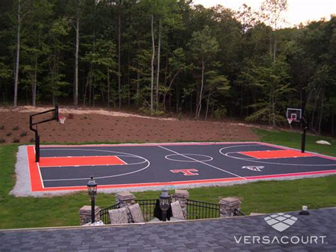 sports courts for backyards full court basketball court backyard pinterest