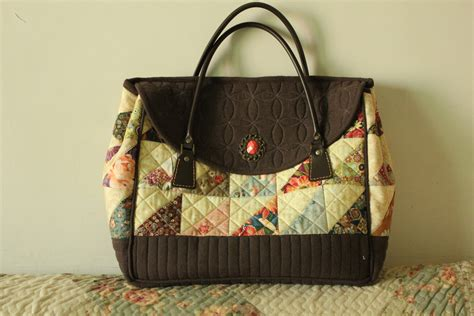 Handmade Quilted Bags - quilted handmade patchwork vintage bag for myself flickr