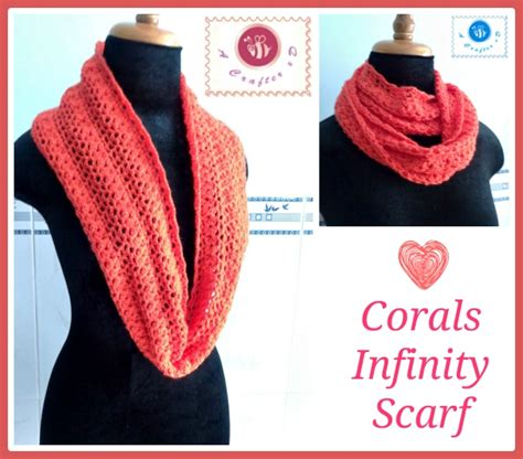 How To Crochet A Infinity Scarf Crochet Corals Infinity Scarf Crochet Infinity Scarf