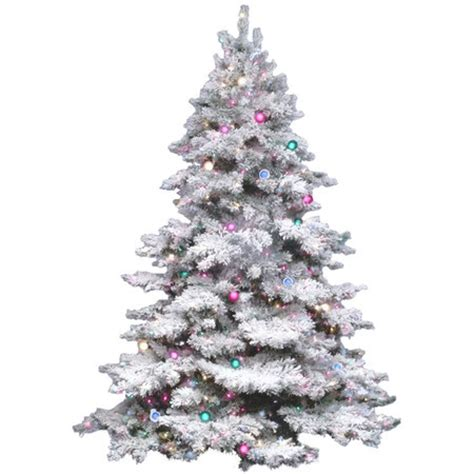 pre lit faux flocked alaskan snow tree pinterest