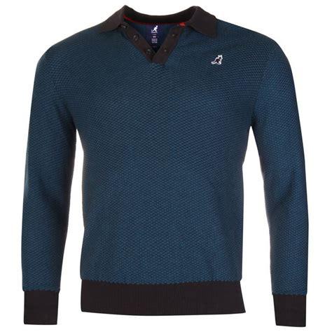 mens sleeve knit polo shirts kangol mens jacquard knit polo shirt ribbed cotton