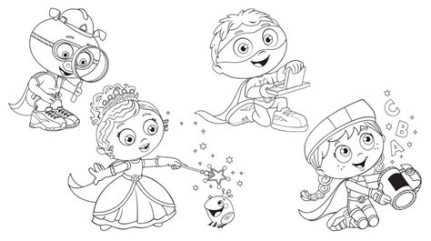 Super Why Coloring Pages Best Coloring Pages For Kids Why Coloring Pages