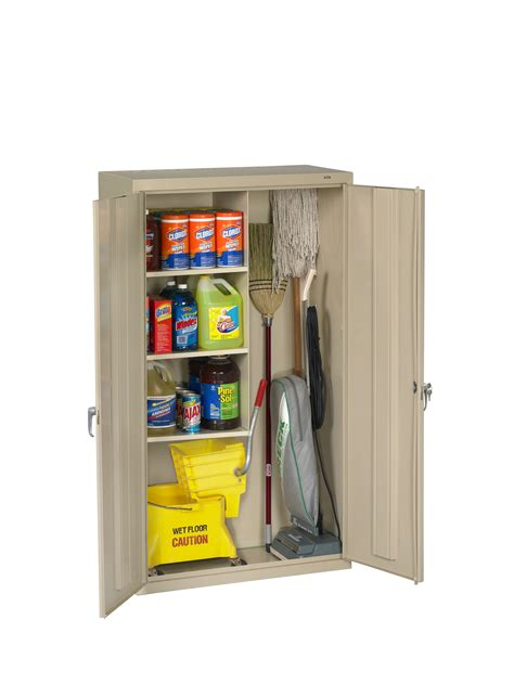 Janitorial Storage Cabinet Tennsco Storage Made Easy Janitorial Supply Cabinet