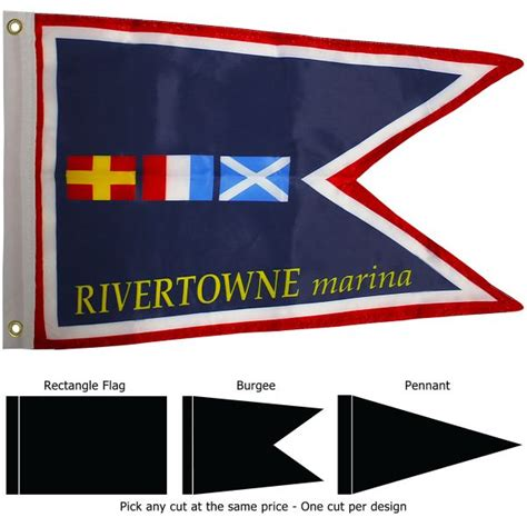 boat burgee flags 12 best custom boat flags custom pennants yacht club