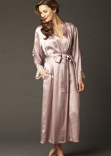 full length bathrobe le soir silk full length bathrobe julianna rae