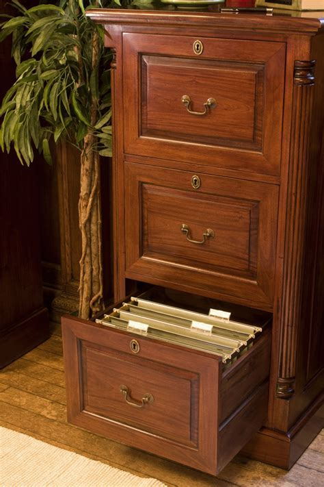 La Roque Mahogany Three Drawer Filing Cabinet Was £695.00