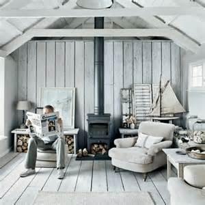Seaside Home Interiors einrichtungsbeispiele maritime deko krake blau wohnzimmer eingang