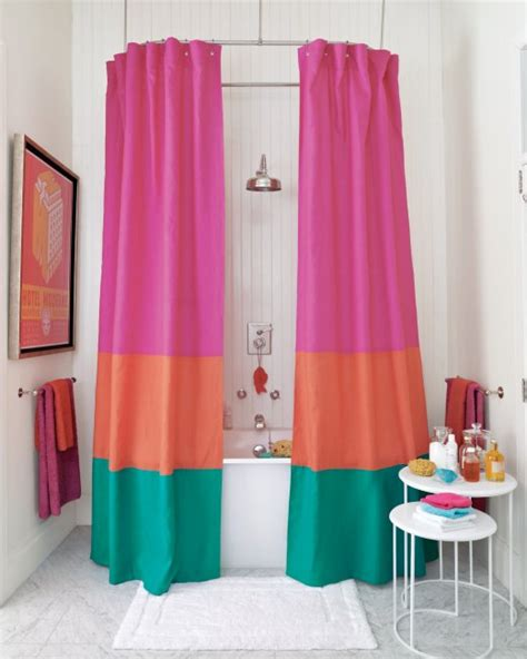 color block curtains 5 diy shower curtains anyone could make you put it up