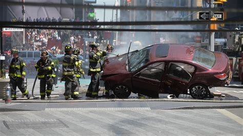 Times Square Hit And Run by Injured After Car Plows Into Pedestrians In Times