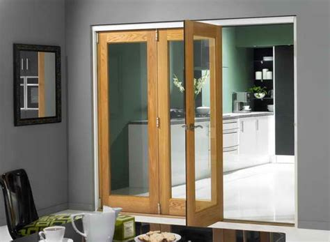 Tri Fold Glass Doors Tri Fold Doors With Mirror Frame Decoration