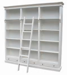 french chateau white large library bookcase san34w