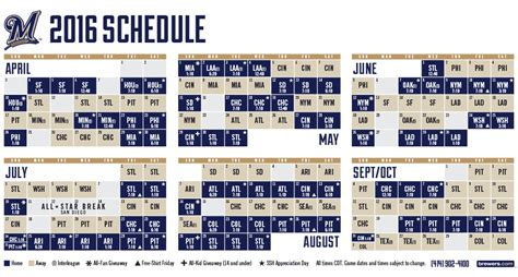 printable brewers schedule printable brewers schedule autos post