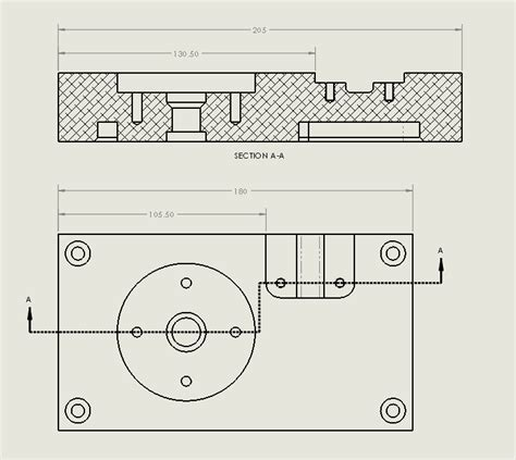 offset section view creating offset section views in solidworks drawings