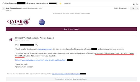Credit Card Verification Form Qatar Airways Whine Wednesdays Qatar Airways Quot Payment Verification Email Quot After Eticket Has Been