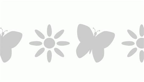 stencil con fiori stencil greca con farfalla si alterna ad un fiore