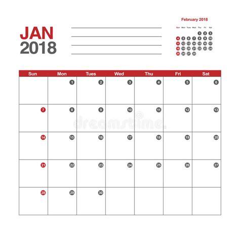 kouta gratis indosat januari 2018 kalender voor januari 2018 vector illustratie illustratie