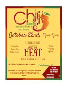 Chili Cook Flyer Template by 9th Annual Chili Cook Benefiting The Alano Club Of