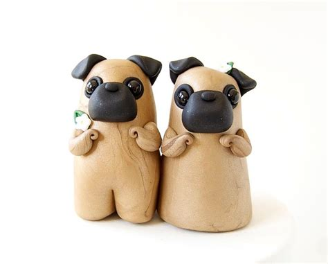 pug cake topper pug wedding cake topper by bonjour poupette