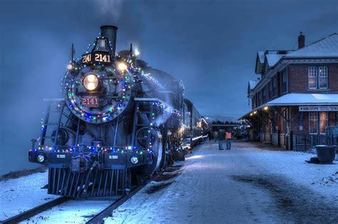 christmas train wallpaper for desktop wallpapersafari