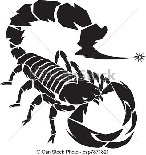 vector clip art of black scorpion a dangerous scorpion