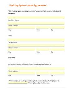 Parking Space Rental Agreement Template business form template gallery