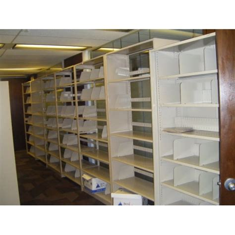 tennsco open shelf tab file shelving rolling systems