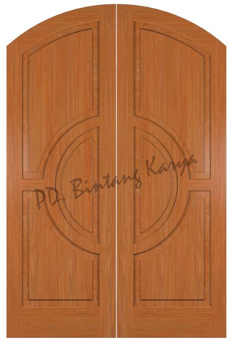 Pintu Utama Panel Solid Kayu Ker Samarinda Oven 80x210 Pu7 harga pintu kayu ker