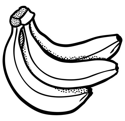 black and white clipart banana clipart black and white pencil and in color