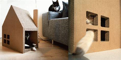 casa gatti casa per gatti di cartone designbuzz it