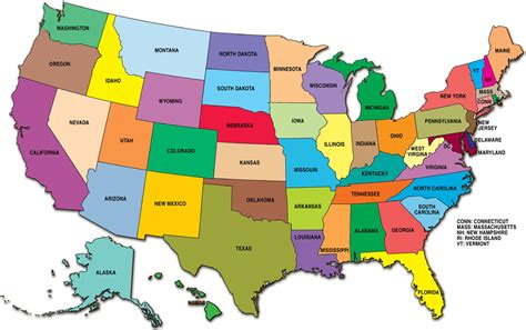 american map of united states usa guide to america
