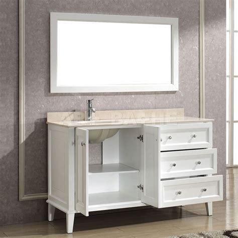 bathe 55 white bathroom vanity solid hardwood vanity