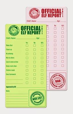 On The Shelf Report Card Template by Magnolia Creative Co On The Shelf Progress Report