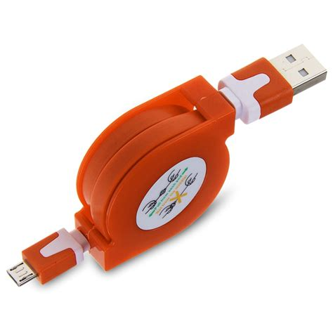retractable phone cord retractable micro usb charger cable sync data flat cord for samsung htc phone ebay