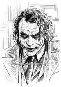 heath ledger as the joker art sketches pinterest