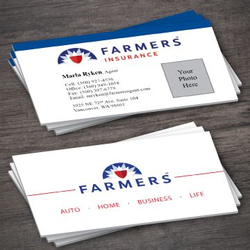 farmers business card templates insurance business cards ideas images card design and