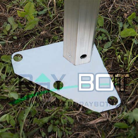 gazebo 4x8 gazebo rapido 4x8 alluminio bianco exa 55mm senza laterali