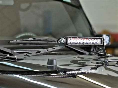 light bar mounting kit 2007 2017 jeep jk 10 quot light bar hood mount kit rigid
