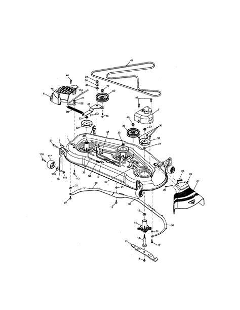 craftsman lawn tractor parts diagram mower deck diagram parts list for model 917276220