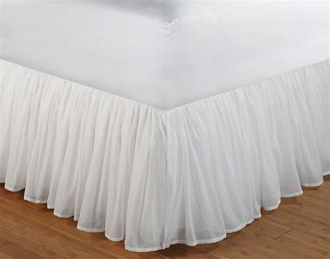 cotton voile ruffled bed skirt wrap around bed skirt