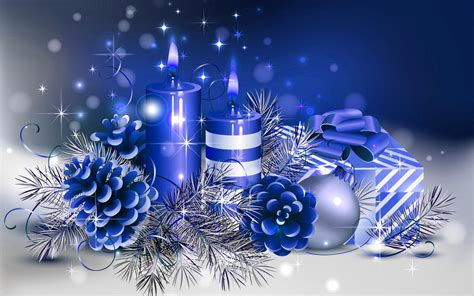 candles n christmas christmas blue candle hd wallpapers