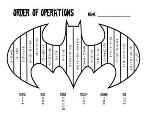 Order Of Operations Coloring Worksheet order of operations coloring sheet key is included