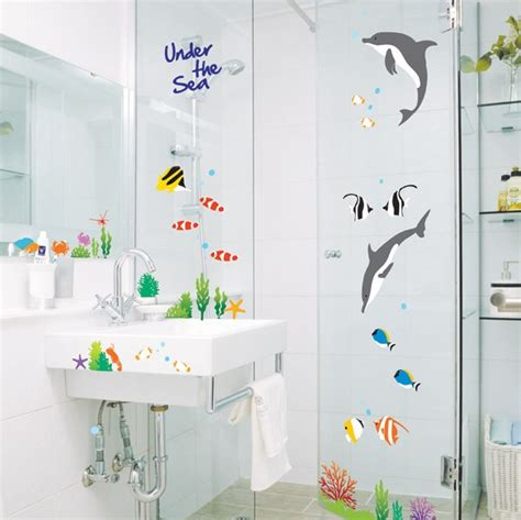 Bathroom Wallpaper Decals Removable Wall Glass Sticker Wallpaper Bathroom Decal Ebay